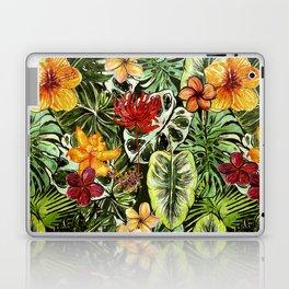 Tropical Vintage Exotic Jungle Flower Flowers - Floral watercolor pattern Laptop & iPad Skin