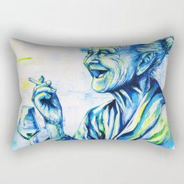 Happy End by carographic, portrait art Rectangular Pillow