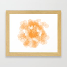 Super Orange Framed Art Print