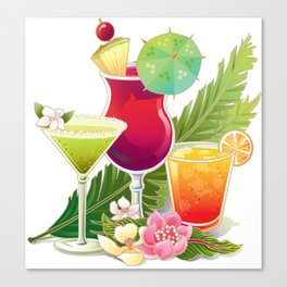 Topical Drinks2 Canvas Print