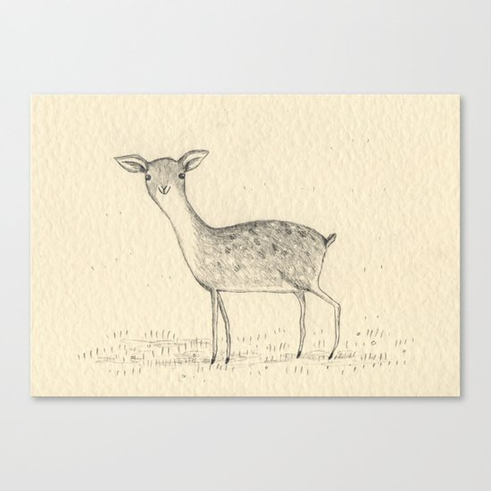 Monochrome Deer Canvas Print