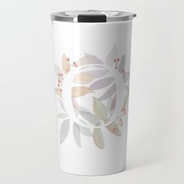 Rustic Initial O - Watercolor Letter Branches and Leaves Travel Mug