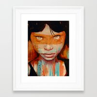 hello Framed Art Prints featuring Pele by Michael Shapcott