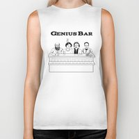 bar Biker Tanks featuring Genius Bar by science fried art