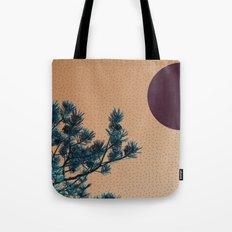 Pine tree and blue polka dots Tote Bag