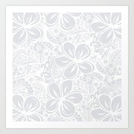 Maui Polynesian Silver Wedding Art Print