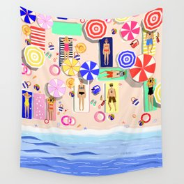 Beach Holiday Wall Tapestry