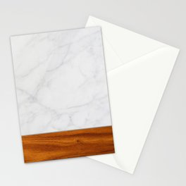 Marble and Wood 2 Stationery Cards