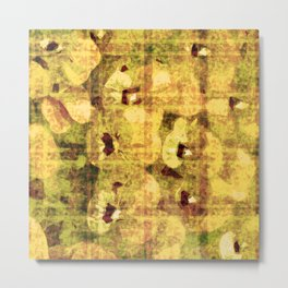 golden flower kaleidoskope Metal Print