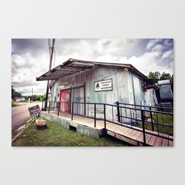 Cheatham Street Warehouse, San Marcos, Texas Canvas Print