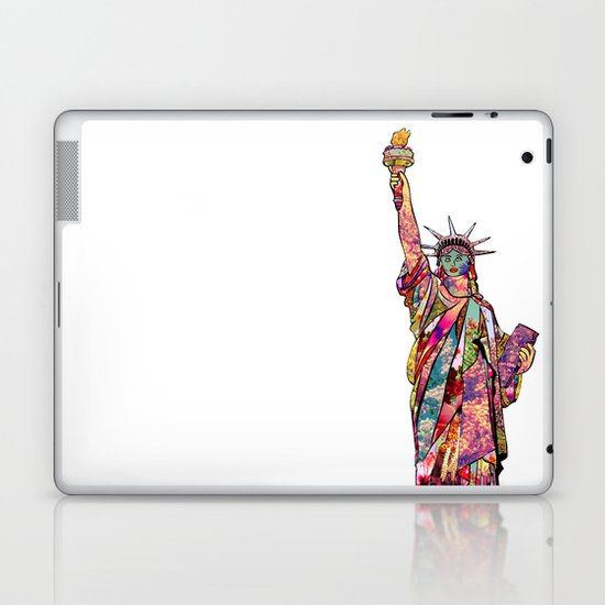 the french gift: statue of liberty Laptop & iPad Skin