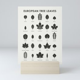 European Tree Leaves Mini Art Print