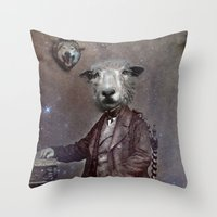 law Throw Pillows featuring jungle law by ppatphoto