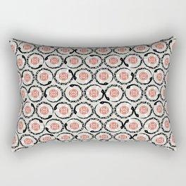 Asian Snake Pattern Rectangular Pillow