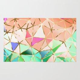 Rainbow Geometric pattern #2 Rug