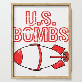 "A Bombing Tee For Bombers Saying ""U.S. Bombs"" T-shirt Design United States Of America Explosives Serving Tray"