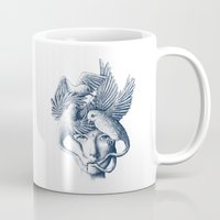 breathe Mugs featuring Breathe by Norman Duenas
