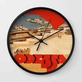 Vintage poster - Odessa Wall Clock