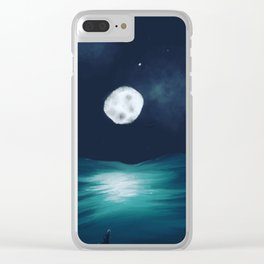 Goodnight Moon Clear iPhone Case