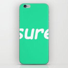 sure: seafoam iPhone Skin