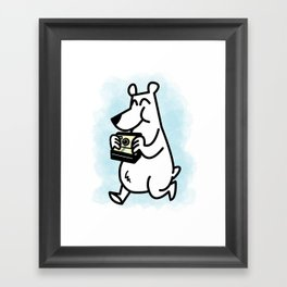 Polaroid Bear Framed Art Print