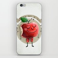 apple iPhone & iPod Skins featuring Apple by Lime