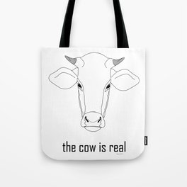 The Cow IS Real Tote Bag