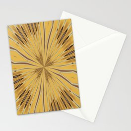 Yellow and Ochre Flower Pattern Abstract 2 Stationery Cards