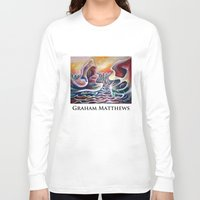 teen titans Long Sleeve T-shirts featuring Meeting of the Titans by Graham Matthews