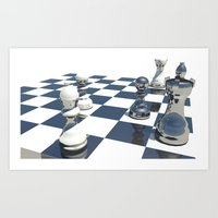chess Art Prints featuring Chess by Mike Hermes