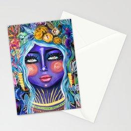 Perla-Boho Girl Colorful art-Zeli Rodriguez Stationery Cards