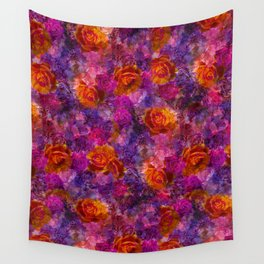 Bold Dreamy Roses Wall Tapestry