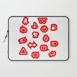 Vehicle Dash Warning Symbols Laptop Sleeve
