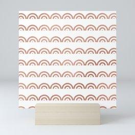 Elegant geometrical rose gold scallope pattern Mini Art Print