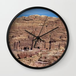 Ancient Nabataean Desert City of Petra Ruins Wall Clock