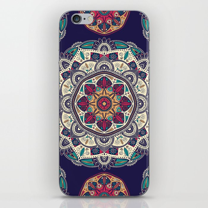 Colorful Mandala Pattern 007 iPhone Skin