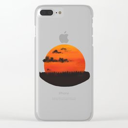 Harvest Moon Clear iPhone Case