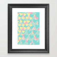 Smashed Pastel Icecreams Framed Art Print