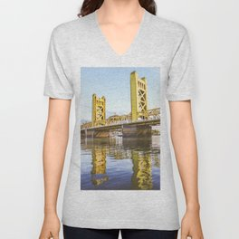 Yellow Reflection Unisex V-Neck