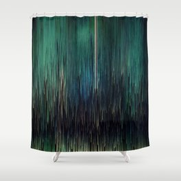 Planet Pixel New York Blues Shower Curtain