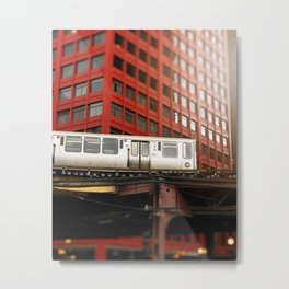 Chicago Train Photography - 2817 Metal Print