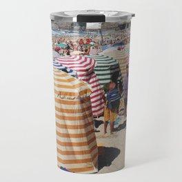 Biarritz Beach Tents Travel Mug