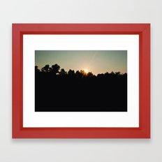 Sunset at Sloan's Pond Framed Art Print