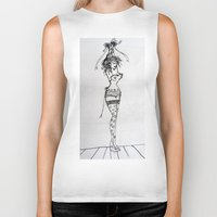 burlesque Biker Tanks featuring Burlesque by Frances Roughton