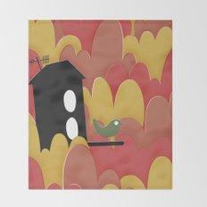 Birdhouse n.2 Throw Blanket