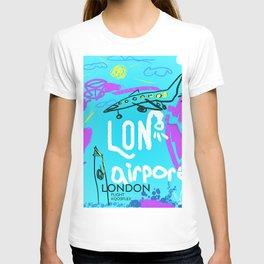 LON LONDON airports code T-shirt