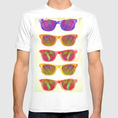 Sunglasses In Paradise White MEDIUM Mens Fitted Tee