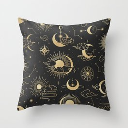 Astronomy Stars Throw Pillow