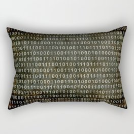 The Binary Code - Distressed textured version Rectangular Pillow