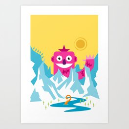 Big Pink! Art Print